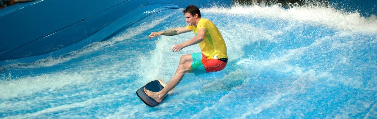 Подарочный сертификат 15 минут индивидуального катания на искусственной волне для серфинга